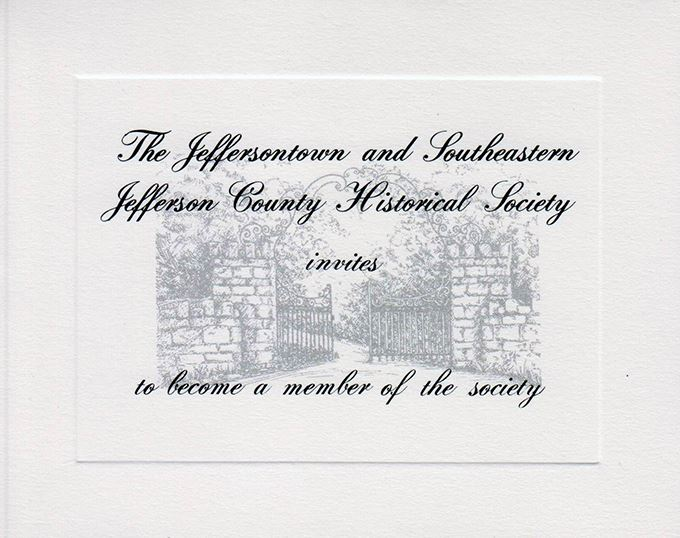 Historical Society Invitation