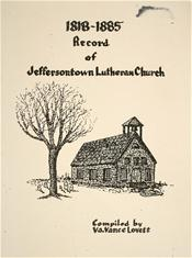 Record of Jeffersontown Lutheran Church 1818-1885